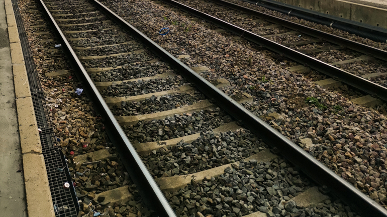 rails van de trein