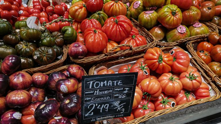 Tomaten op de markt